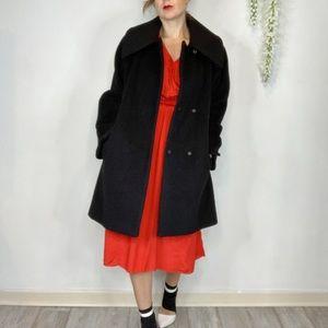 HILARY RADLEY alpaca/wool peacoat black